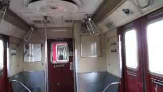 Inside R33ML Redbird subway cars
