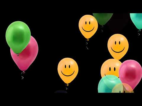 HAPPY FACE BALLOONS BLACK SCREEN EFFECT