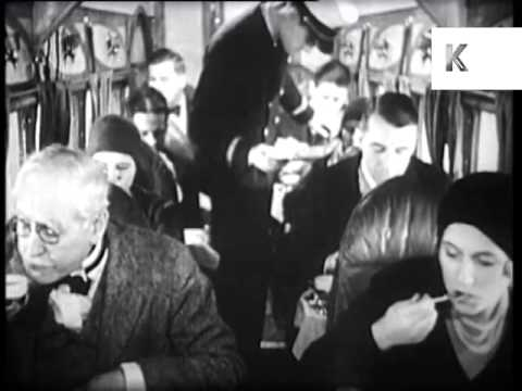 Late 1920s Plane Food, Jet Set, Air Travel, Archive Footage