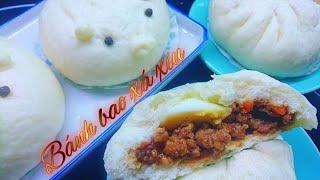 Bánh bao xá xíu - Cách làm nhanh đơn giản với bột bánh bao pha sẵn