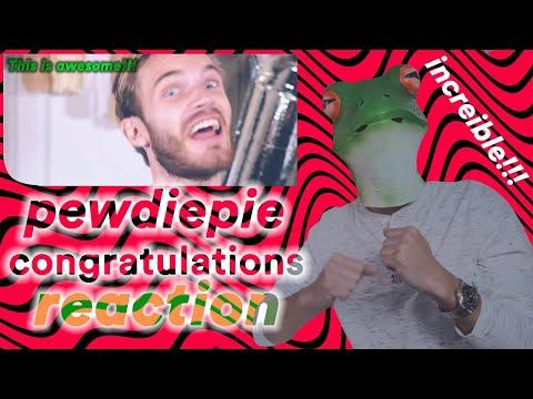 PewDiePie - Congratulations Spanish Reaction