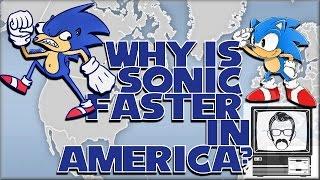 why is sonic faster in america ntsc vs pal 60hz vs 50hz   nostalgia nerd