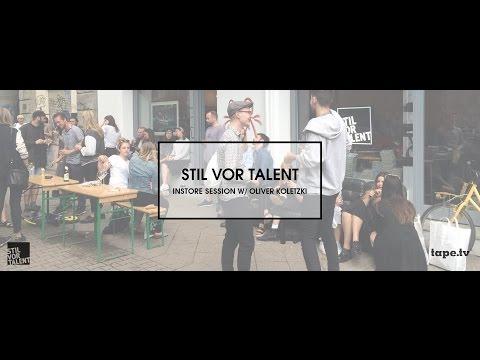 Stil vor Talent Instore Session w/ Oliver Koletzki