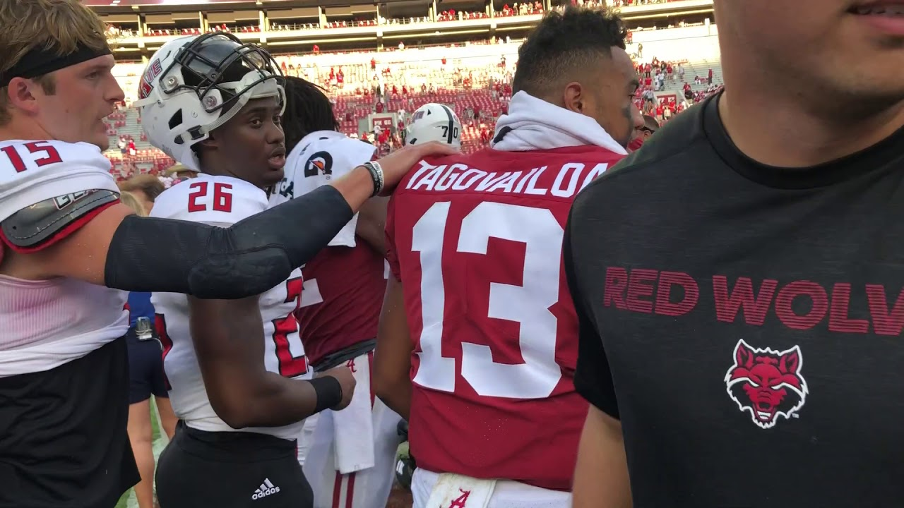 new style 50eaf 9dd26 Follow Tua Tagovailoa off the field after first Alabama home start