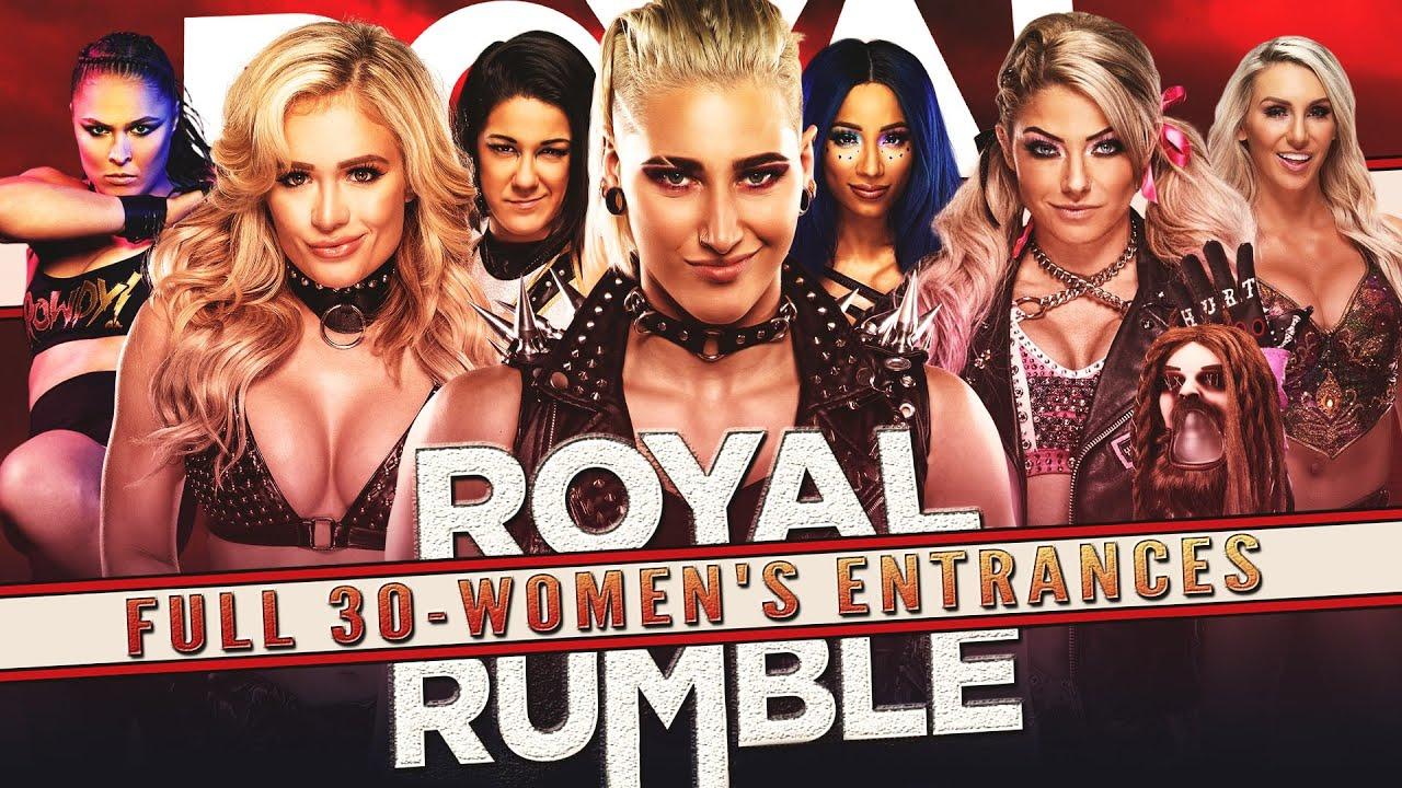 WWE ROYAL RUMBLE 2021 || FULL 30-WOMENS ENTRANCES PREDICTION