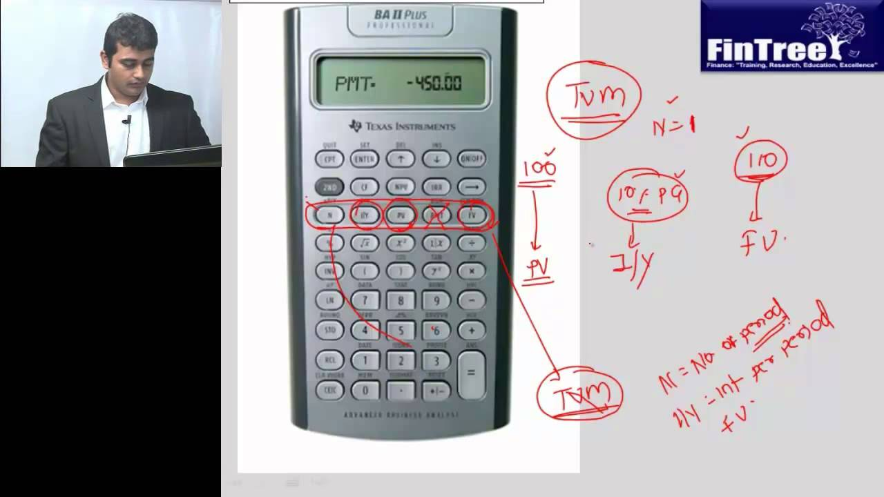 how to use texas instruments ba ii plus professional calculator part i youtube