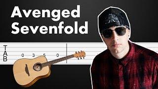 So Far Away Avenged Sevenfold Guitar Tabs Guitar Tutorial Guitar Lesson