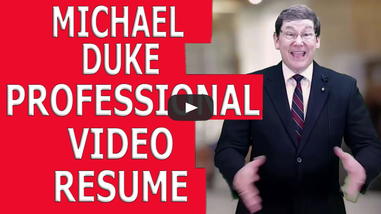 resume Video Resume professional video resume youtube resume