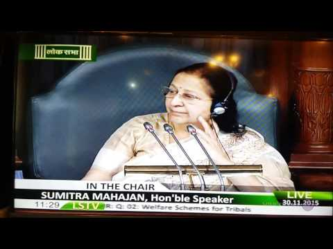 B Sreeramulu, MP Ballary during Question Hour in Parliament House