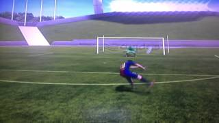 how to outside curve the ball in FIFA 13