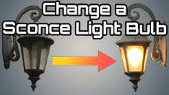 How to change an Outdoor Porch Lantern Sconce  Light Bulb--Simple  DIY do it yourself procedure HQ