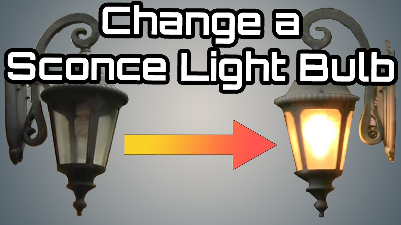 How to change an Outdoor Porch Lantern Sconce Light Bulb ...