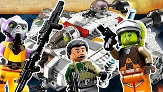 Обзор Лего Звёздные Войны Повстанцы 75048 Фантом и 75053 Призрак на русском языке