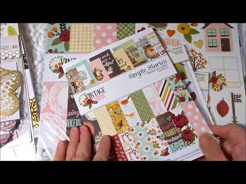 New Fall Paper Line from Simple Stories....Vintage and Gorgeous!