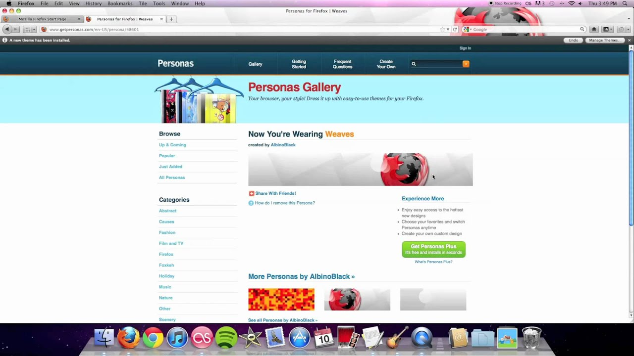 Top 5 Coolest Mozilla Firefox Themes/Personas (How-to Mac and Windows 2011)