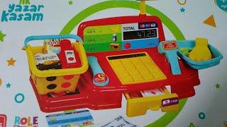 A101'den oyuncak kasa aldım, yazar kasa açalım mı, çok yanlış yaptık 😉 ama eğlendik, masal treni