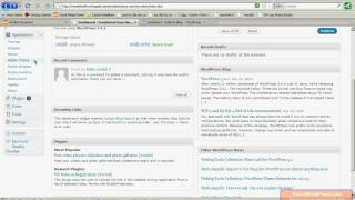 WordPress 3 Tutorial Part 1: Introduction to the WordPress Dashboard