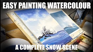 Step-by-step real time watercolour painting.