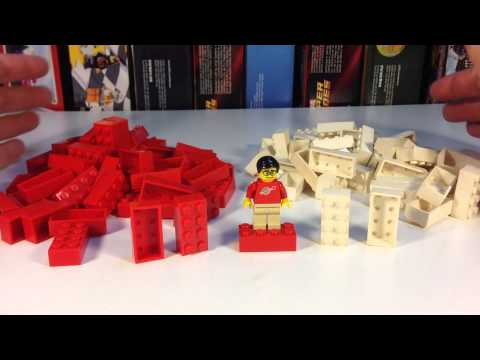 LEGO Element Daily - Part bhol04 - Vintage 2x4 Brick without bottom tubes - from 1950's