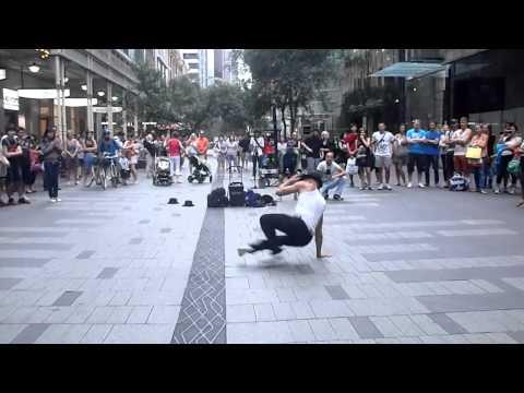 European Street Dancers Impress Pitt Street Mall in Sydney