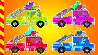 Пожарная машина все серии подряд. 13 мин. Пожарная машина для детей. Мультик про пожарников.