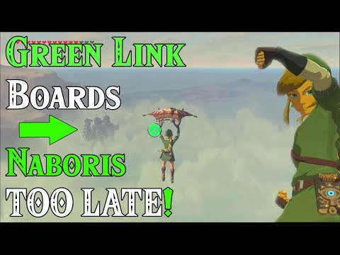 Interlogue 1st: Green Link Boards Naboris TOO LATE! Four Swords Adventures Zelda Breath of the Wild