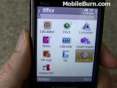 Samsung i8510 INNOV8 - optical joystick, browser, and apps