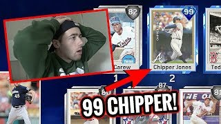 HE HAS 99 CHIPPER JONES ON HIS TEAM!! MLB THE SHOW 17 BATTLE ROYALE