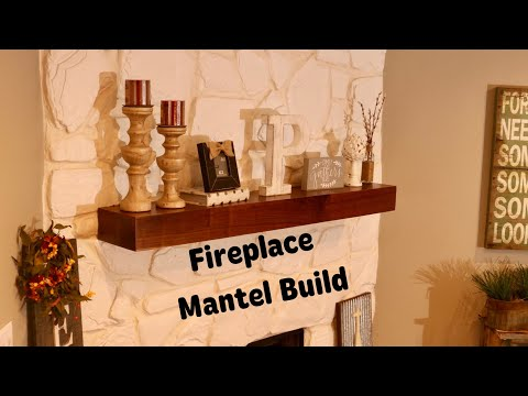 Fireplace Mantel Build || DIY Floating Shelf