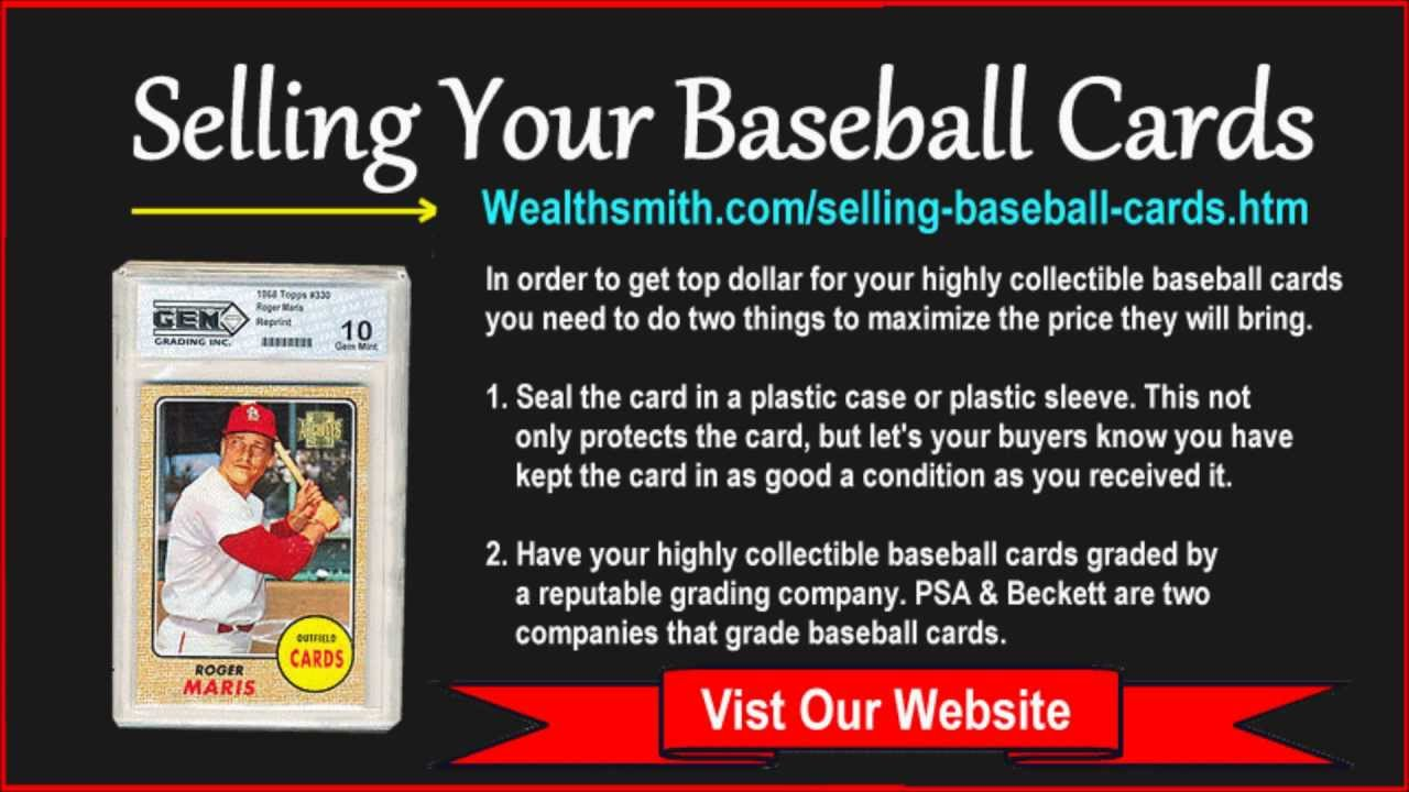 How To Sell My Baseball Card Collection Sell Your Baseball Cards