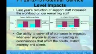 Santa Barbara County 2012/13 Budget - Law and Justice