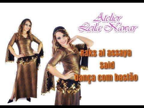 Hafiza Nawar - Raks al Assaya - Egyptian cane dance - Costume by Leila Nawar