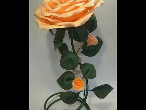 Светильник роза изолон персикового цвета