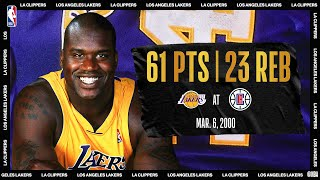 Shaq Scores Career-High 61 On His 28th Birthday | #NBATogetherLive Classic Game