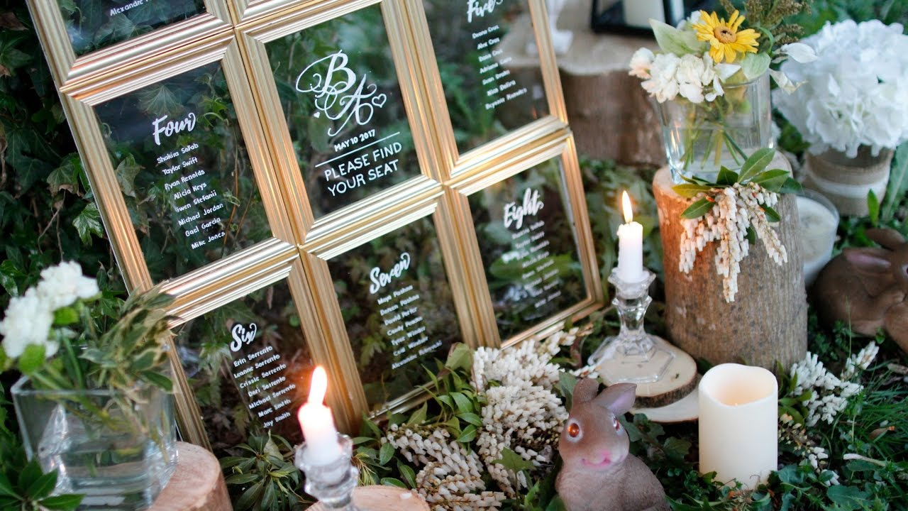 DIY WEDDING DECOR- DOLLAR TREE WEDDING SEATING CHART - YouTube