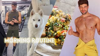 Healthy & Active Morning Routine for 2021 (breakfast + workouts)