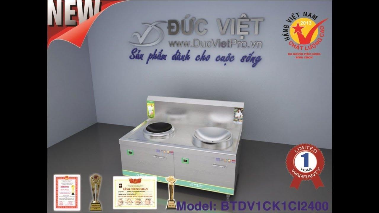 Bếp từ Đức Việt 1 chảo kính 1 chảo inox có vòi | Induction Cookers | Bếp từ