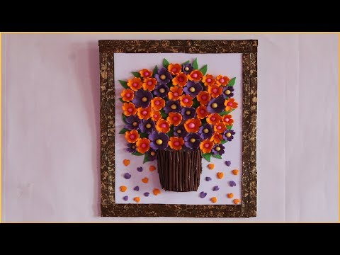 DIY-Unique Wall hanging out of waste | Foam sheet craft | Easy Wall decorations ideas