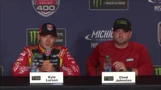NASCAR at Michigan International Speedway, June 2017: Kyle Larson post race