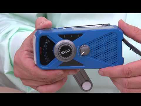 ETON Hand Crank AM/FM Weather Radio w/ USB Charger and Flashlight with Rachel Boesing