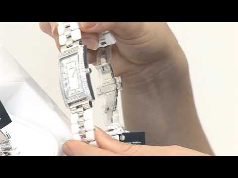 Серебряные часы на керамических браслетах