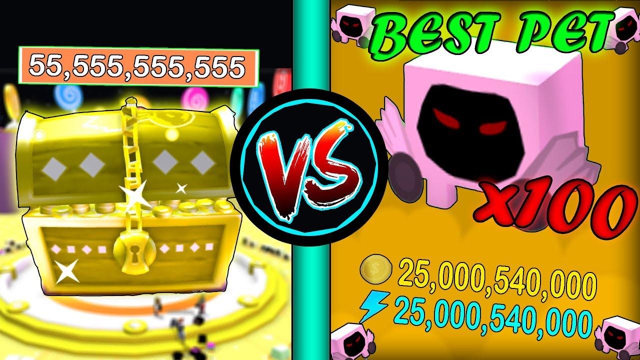 x100 BEST PETS vs DOMINUS CHEST!!! - ???? Roblox Pet Simulator