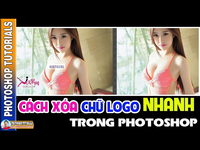 Cách Xóa Chữ Logo Nhanh Trong Photoshop 🔴 MrTriet Photoshop Tutorials