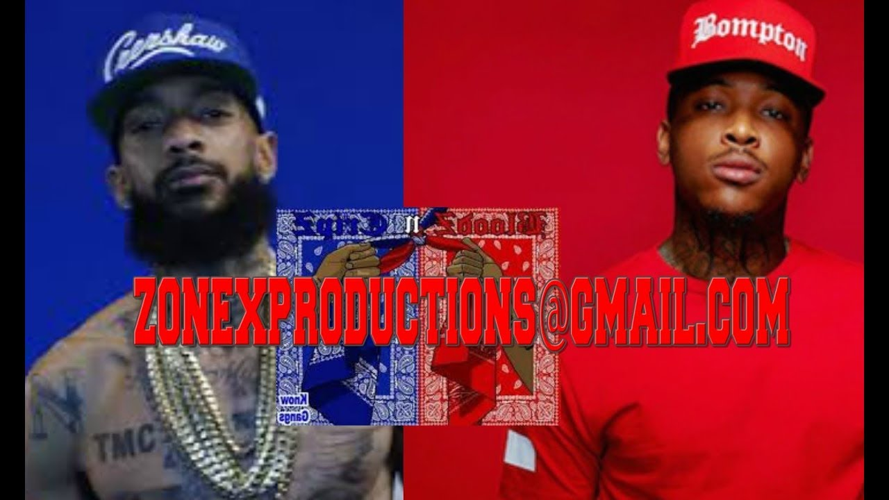 Nipsey Hussle Rollin 60 Crips take over YG Piru Blood hood in compton they  SPRAY 60s on buildings!