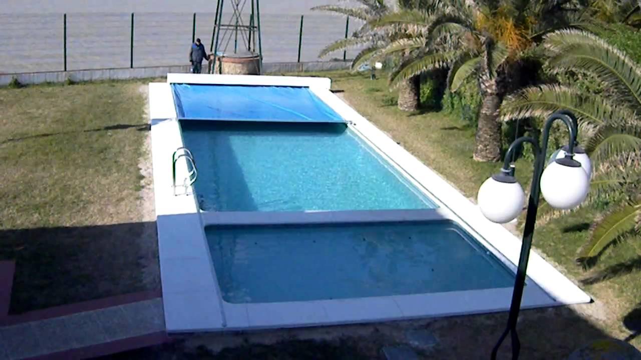 Cubierta de piscinas automaticas aguazul youtube for Como hacer una mini piscina