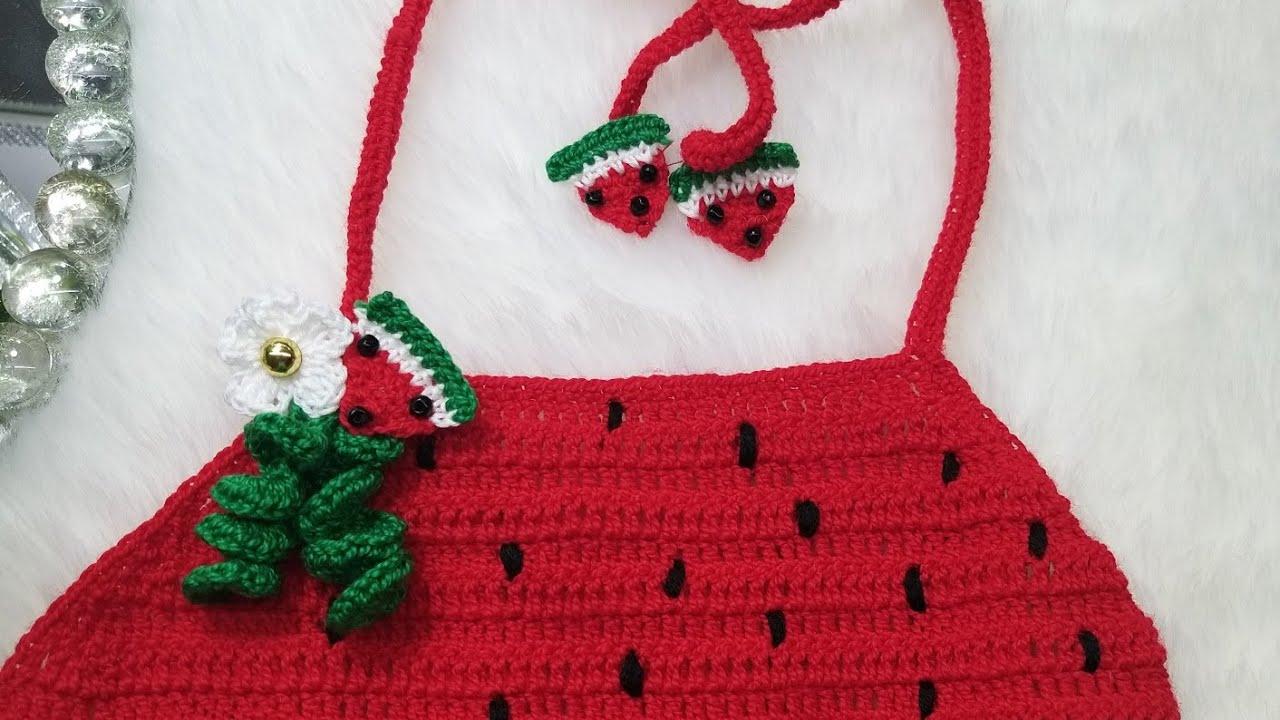 Aplicación de sandía a crochet