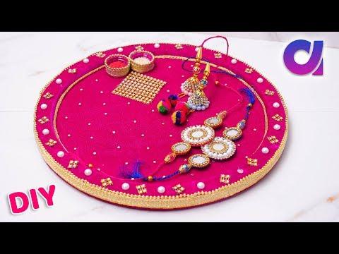 Raksha bandhan 2018 | pooja thali decoration/rakhi pooja thali | Best out of waste | Artkala