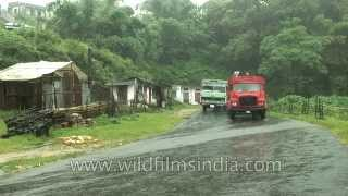 Heavy downpour of rain in Cherrapunji