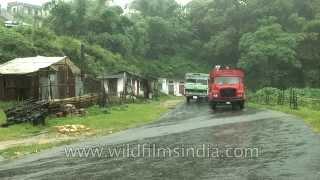 Heavy downpour of rain in Cherrapunji