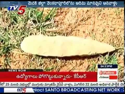Prehistoric Humans Monuments found in Medak : TV5 News